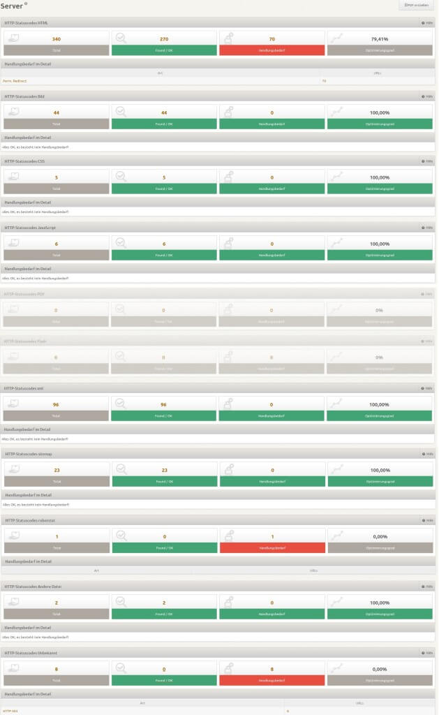 onpage analyse server http nach dokumenttyp