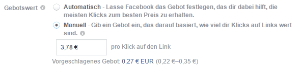 facebook ads gebotsstrategie
