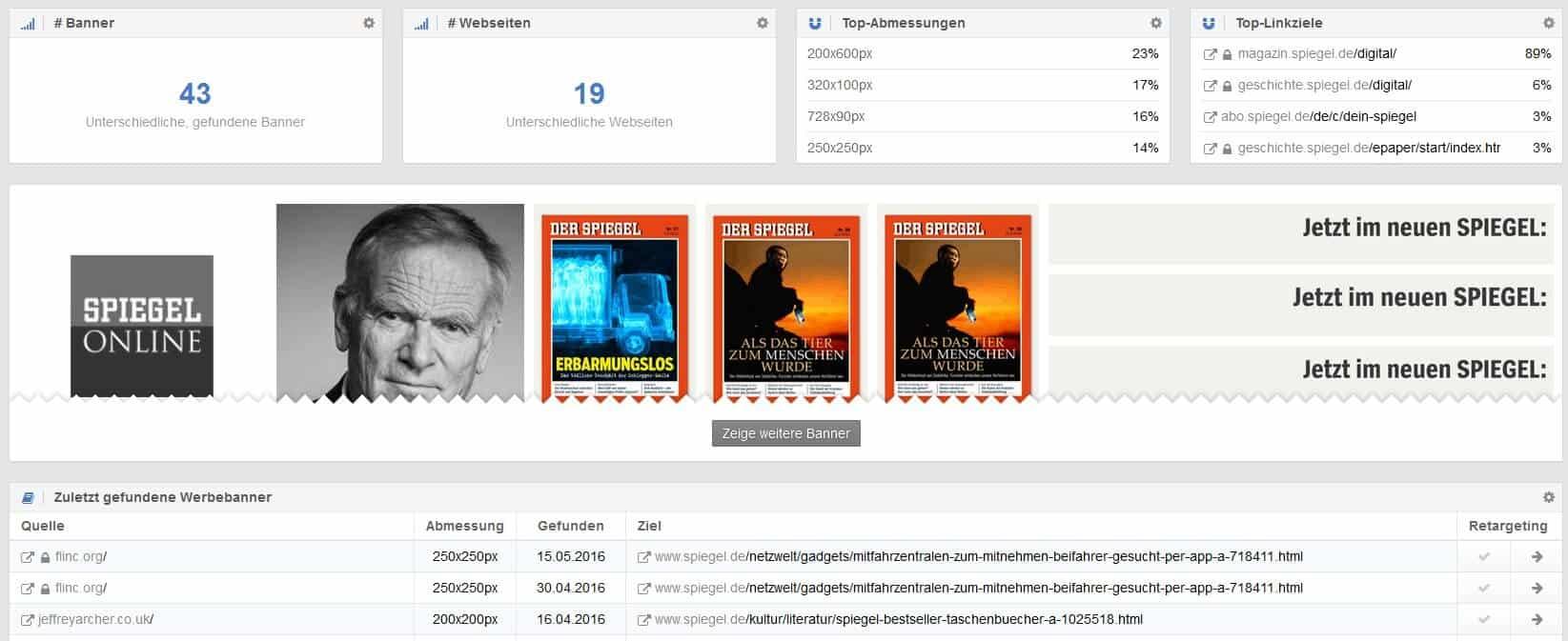 Sistrix Ads Banner Überblick by seo-tech.de