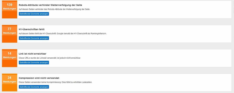 Pagerangers kritische Fehler finden by seo-tech.de