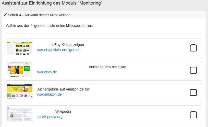 Pagerangers Testbericht - Keyword Monitoring Mitbewerber auswählen by seo-tech.de