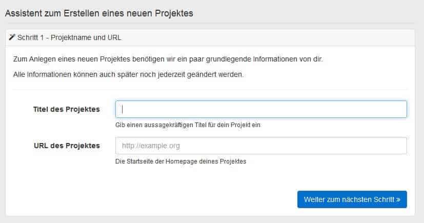Pagerangers Testbericht - Projekt einrichten by seo-tech.de