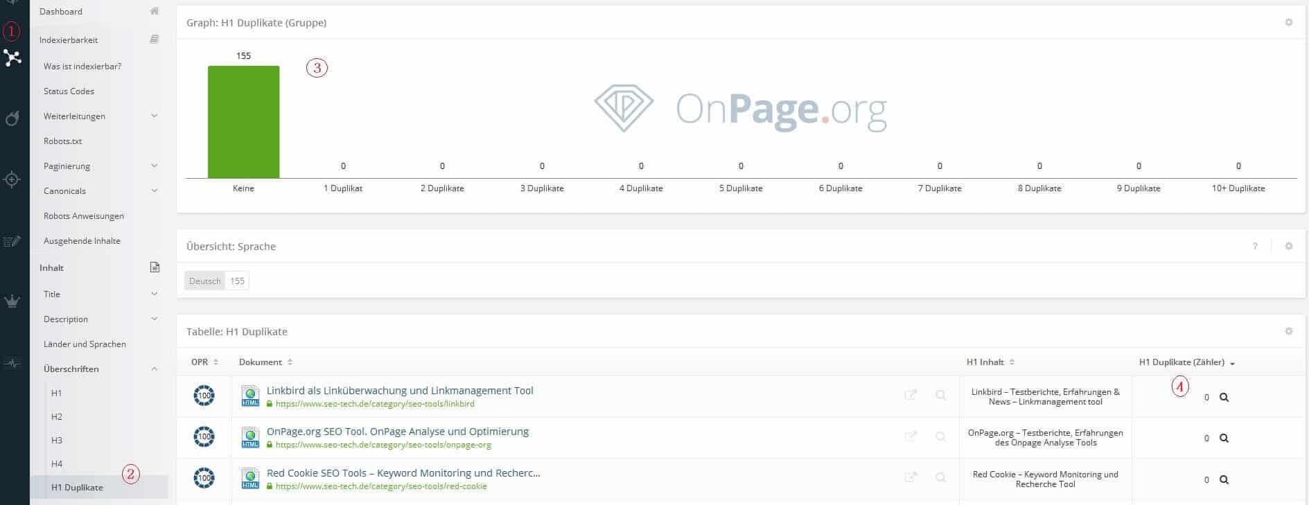 onpage.org H1 Duplikate