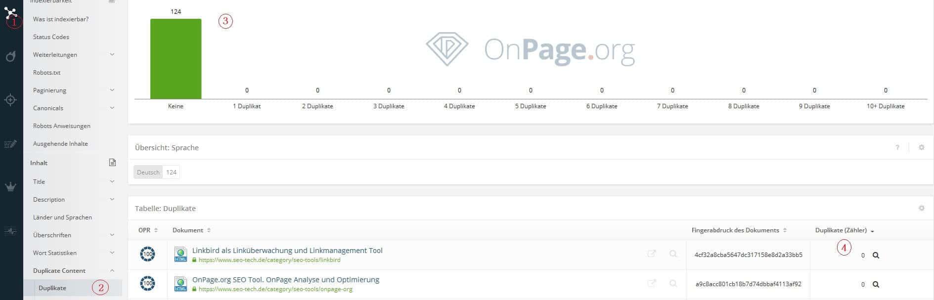 onpage.org inhaltliche Duplikate