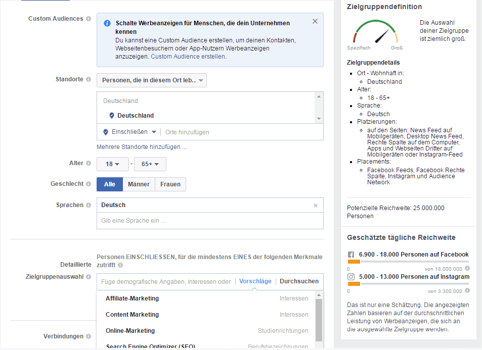 facebook ads targeting tool