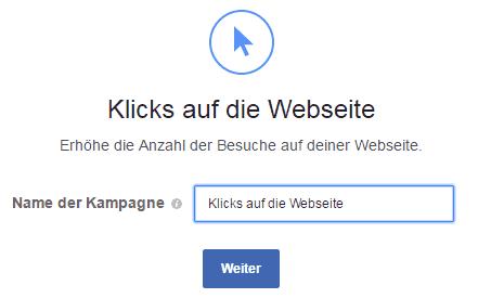 Klicks auf Webseite