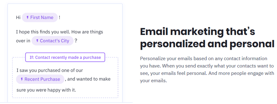 activecampaign marketing automation mail personalisiert