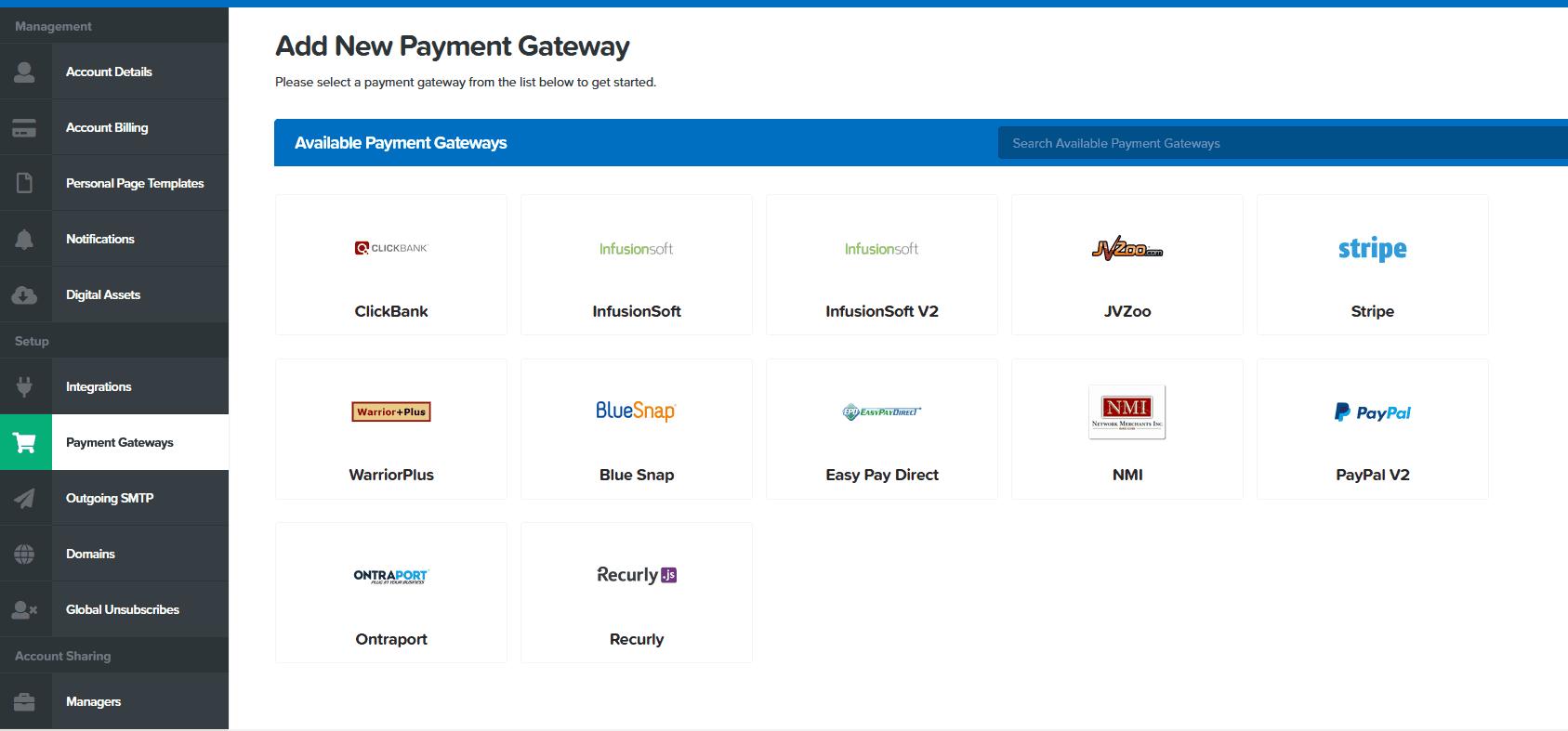 clickfunnels payment gateways - Zahlungsanbieter