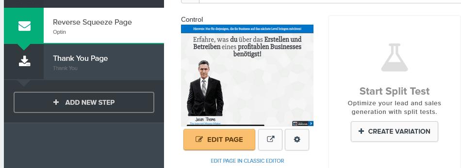 clickfunnels splittest A/B Test