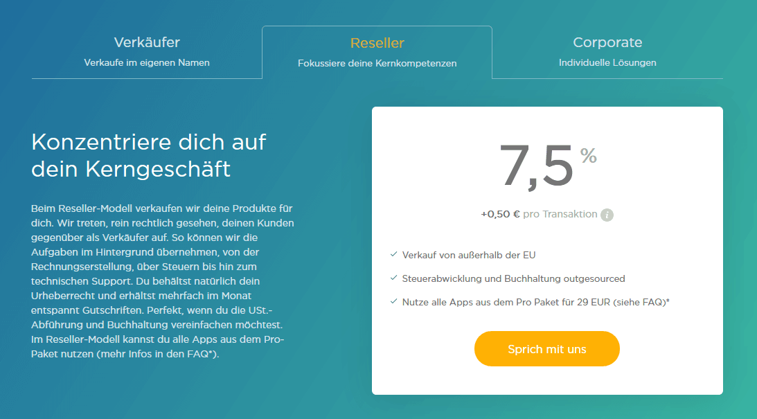 elopage Verkäufer reseller corporate