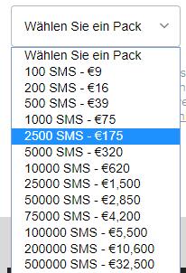 mailify sms preise kosten