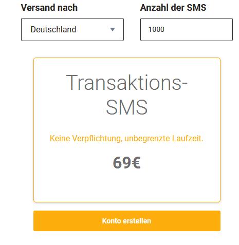 mailjet sms preise kosten