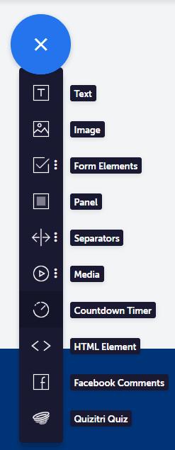 convertri page buider elemente