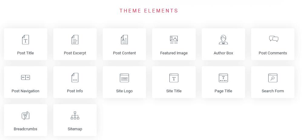 elementor theme elemente