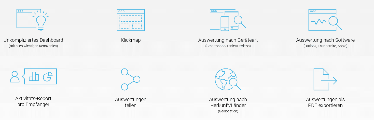 rapidmail funktionen analytics auswertung