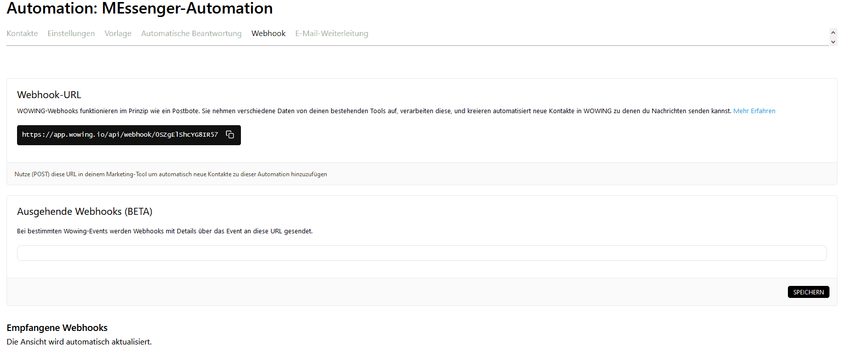 automationen webhook